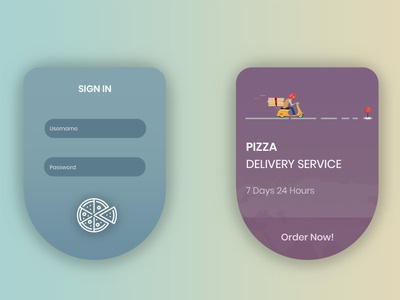 Pizza Delivery App shopping order mobile login ios illustration ux ui food design delivery app delivery creative app