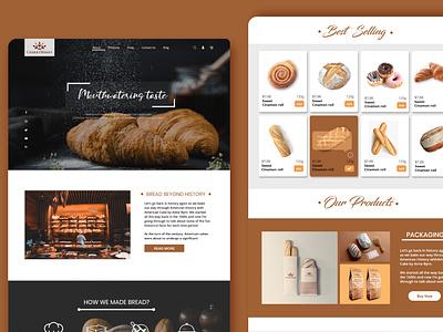 Bakery Website company ui design ui fresh design corporate landing page brand identity minimal bakery shop design web branding webdesign website