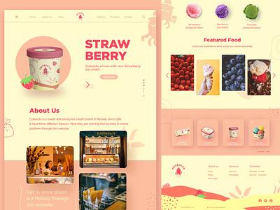 Cuteocto Website ocean summer pink icecream design strawberry website avocado ui fresh design company branding webdesign web minimal