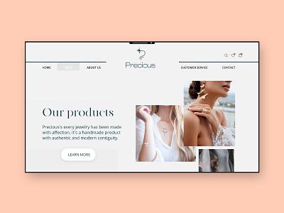 Jewelry Website classy dimond shop fashion ring logo platinum elegant jewelry branding ui design minimal design fresh design website web webdesign ui