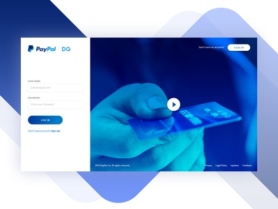 Paypal DQ Login Page