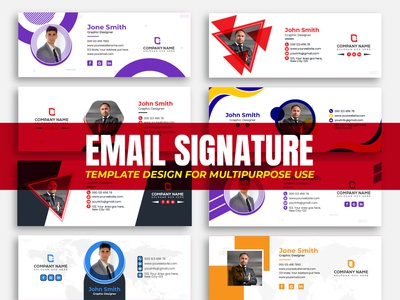 Email Signature Template Design or email footer design email receipt template footer design email footer cover design social media cover cover branding abstract design business flat editorial corporate email signature email signature design email signature email marketing email template email design email
