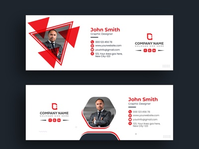 Email Signature Template Design editorial email footer email signatures email template email receipt email signup email marketing leaflet commercial design flyer branding abstract business brand identity flat email signature design email signature email design email