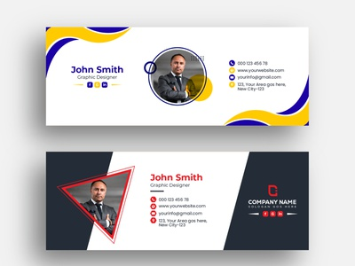 Email Signature Template Design leaflet design branding abstract business brand identity flat editorial email footer email marketing email template email signature design email signatures email signature email receipt email design email