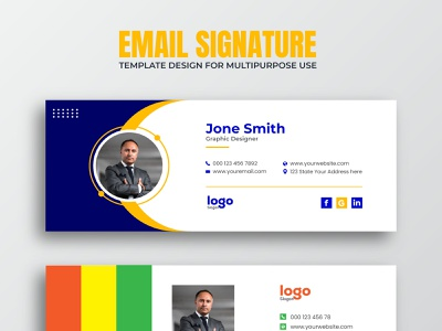 Email Signature template or Social media cover Design interface layout mail electronic media personal cover cover modern electronic mail