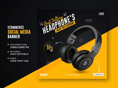 Social Media Banner Design Template For Ecommerce Product Sell abstract cover design branding business flat banner