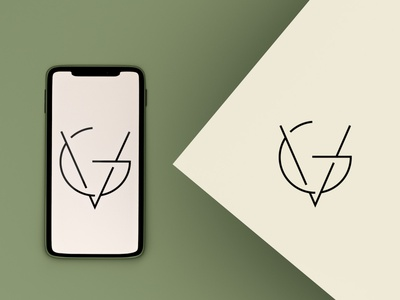Minimal Logo Design (VG) branding flat typography initials logodesign minimalist