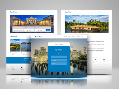 Travel Website UI - UX Design webdesign travel agency ecommerce app travel app uidesign application app illustration ecommence design ux ui website travel