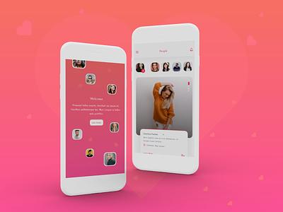 Dating App UI lover find my love app design dating uidesign ux ui partner date love valentine dating app ux dating app ui