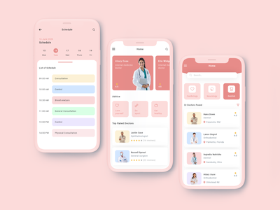 Clean Doctor App hospital app application ui app ux design doctor appointment ui professional ui doctors modern ui clean ui hospital booking app doctor app ui doctor appointment