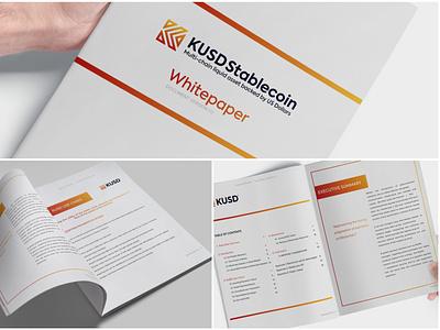 Whitepaper Design dollars asset ebook digital print corporate finance payments icon cryptocurrency blockchain logo illustration branding vector design white paper whitepaper