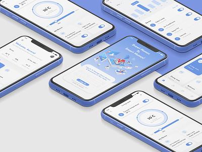 Smart Home App! blue smarthouse smart home smarthome flat minimal web clean ui application ux ui app design
