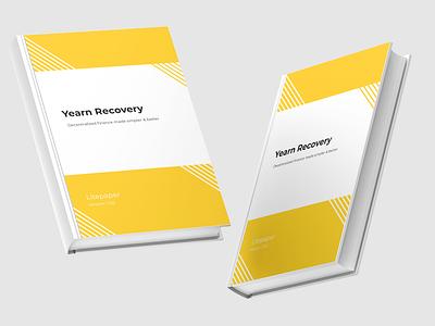 Lite Paper yellow litepaper whitepaper minimal typography branding application illustration design