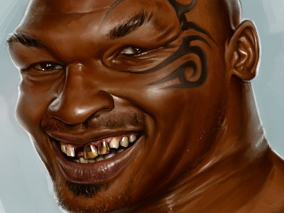 Iron Mike Illustration mike tyson illustration corelpainter digital painting celebrity corel painter