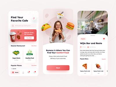 Food Delivery App food order pizza mobile finder ux clean cafe iosapp minimal simple food delivery eat restaurant app ui food delivery app