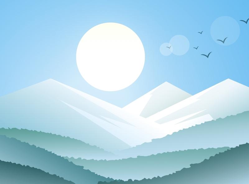 Mountains design illustration
