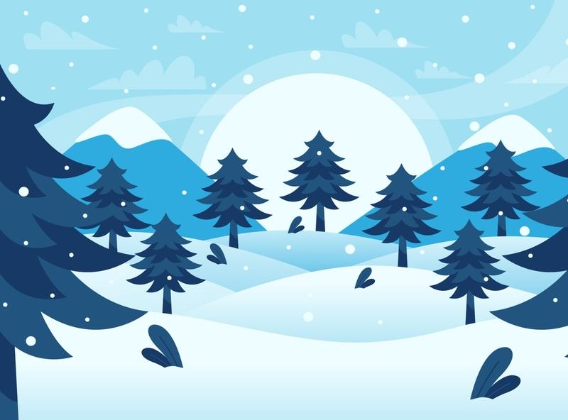 Snow design illustration