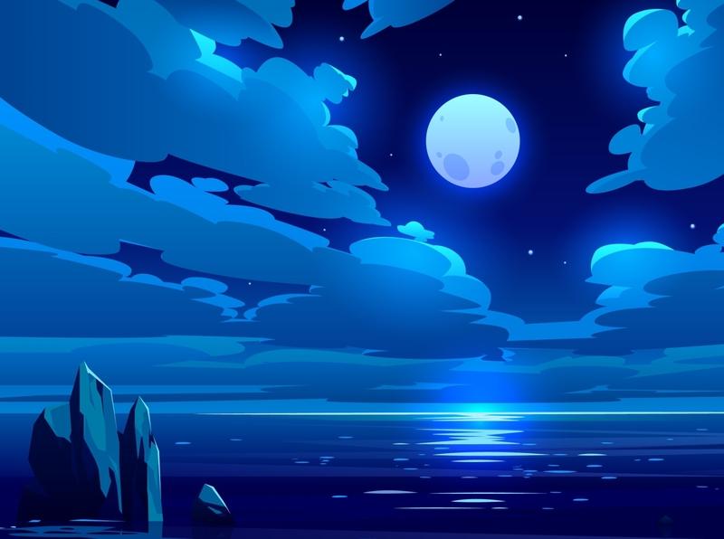 Moon design illustration