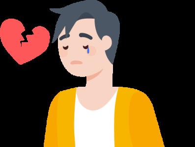 Sad Boy design illustration