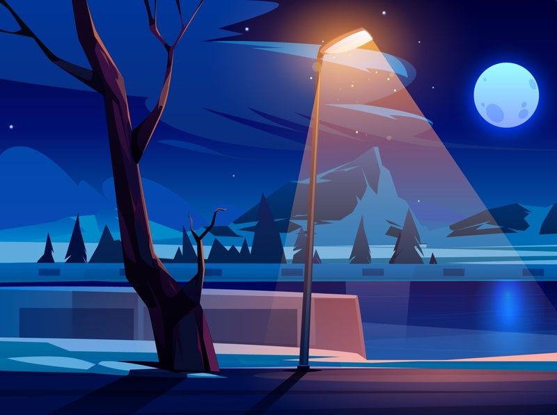 Winter Night design illustration