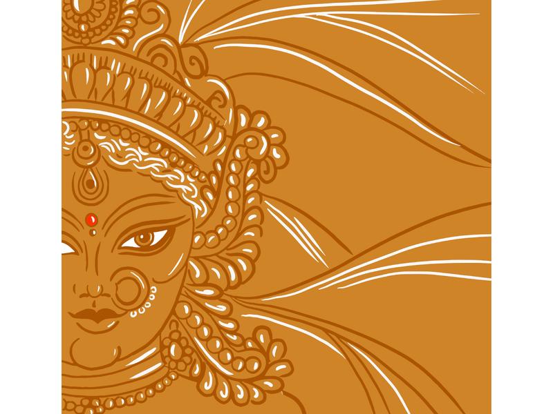 Durga Maa design illustration