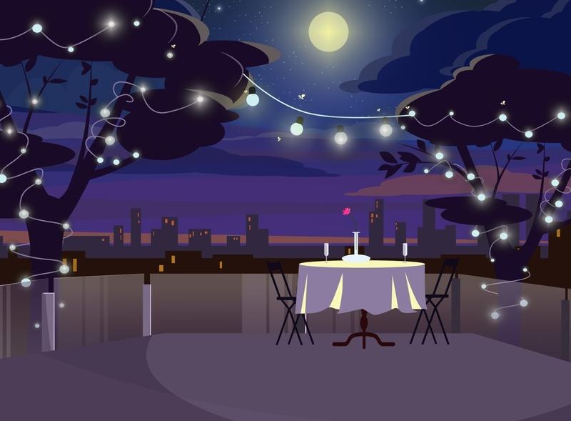 Date Night design illustration