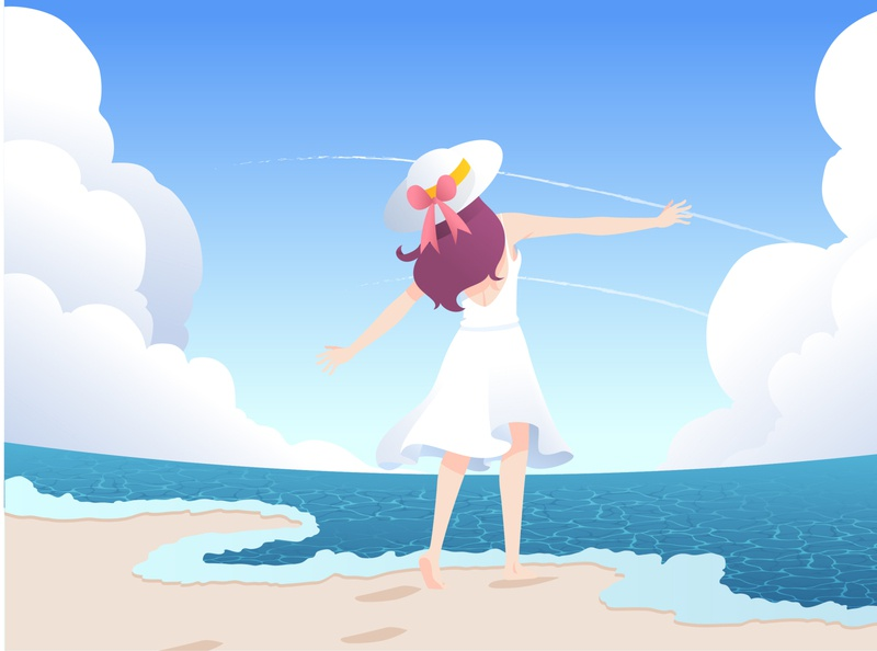 Beach Girl design illustration