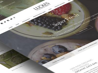 Superfood Cafe Website health cafe food smoothies superfoods photoshop ui website nutrition