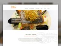 Seafood Restaurant Website lobster crab food sussex photoshop ui website seafood restaurant