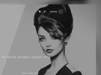 Hair & Beauty Salon Landing Page style fashion monochrome sussex ui chichester hair salon hair beauty website