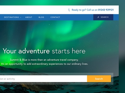 Adventure Sports Website snowboarding skiing sports travel vacation holiday adventure holiday extreme sports ui website