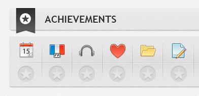 VLE System Student Achievements Panel vle education achievements ui dashboard