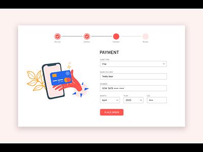 Daily UI 002 - Card Checkout illustraion ux design ui design uxui web design checkout page daily ui