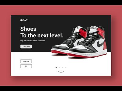 Daily UI 003 - Landing Page web design landing page redesign sneakers jordan1 ui branding uxui ux design ui design daily ui
