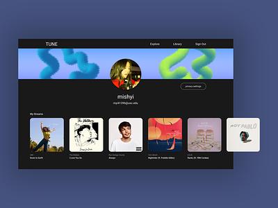 Daily UI 006 - User Profile musicapp musician artist album pictures profile spotify illustration web design branding ui design uxui ux design ui design daily ui