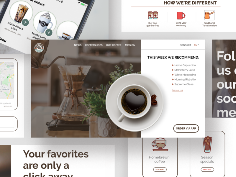 Designing a Landing Page | AVENUES Digital landing page design landing page landingpage coffee shop coffee website design web design web ui flat minimal icon daily ui dailyui daily 100 challenge