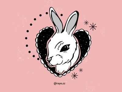 Conejo cute bunny vector dark illustration