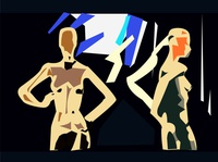 people at the party illustration artwork decorative beautiful creative element abstract concept design art