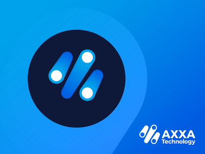 AXXA Technology Logo Design 2