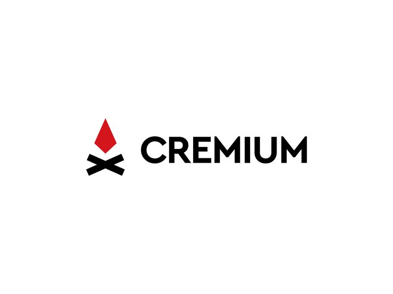 Cremium Logo Desig #1 identity icon mark modern logo premium design wooden wood flames flame firewood fireworks fireart fire cremium design system logo design concept logodesign