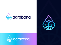 Aardbanq - Logo Proposal v2 vector icon mark symbol secure funds logo design identity branding global safe protection financial services finance financial business decentralized economy globe world logo crypto cryptocurrency bitcoin colorful modern innovative capital investment investments blockchain currency technology bank logo design artificial intelligence