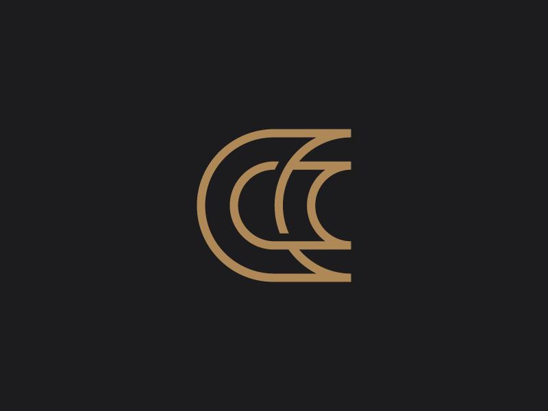 CC Monogram custom type clean lineart monogram typography lettering icon font branding symbol mark logo