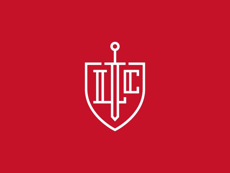 Financial Services Logo crest line symbol shield sword mark logo identity icon financial capital branding