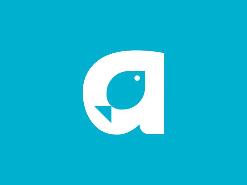 A is for Aquarium hotel aquarium a logo design mark monogram icon abstract water aquarium fish logo letter