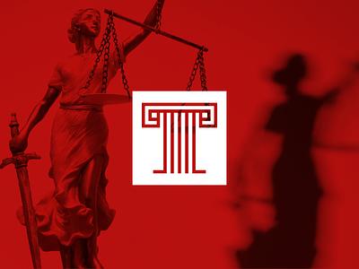 Logo for law firm pillar branding justice modern minimal advocate logo legal lawyer law icon geometric column