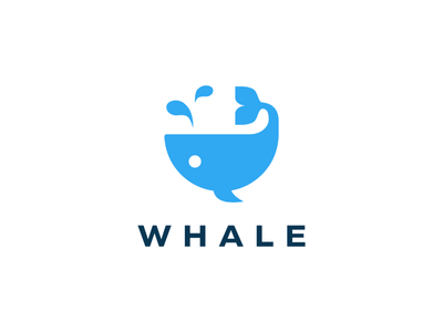 Whale Logo water tail swimming sea ocean nature fountain fish whale mark logo illustration