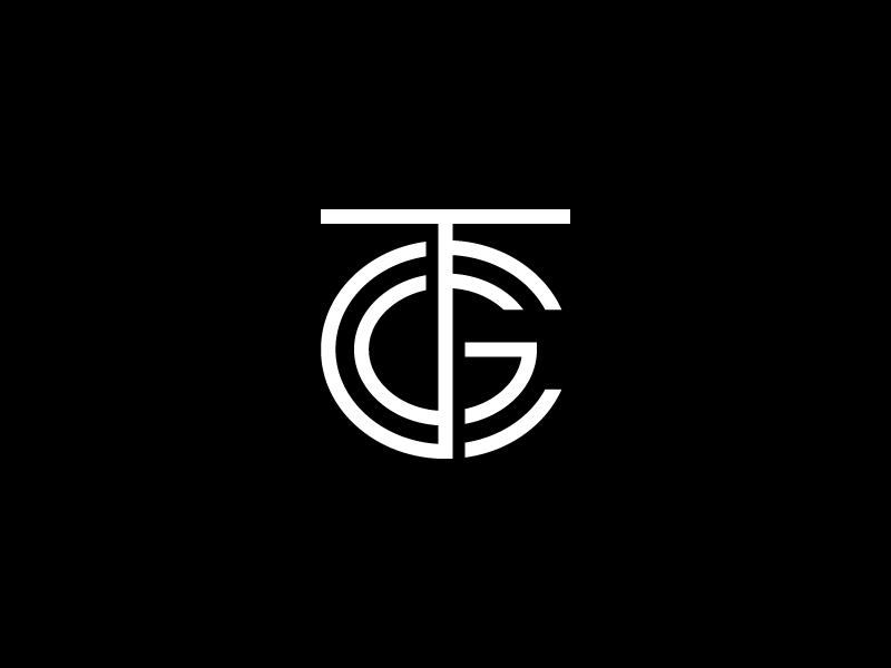TCG monogram custom type typography type tcg monogram logotype logo lettering letter identity branding