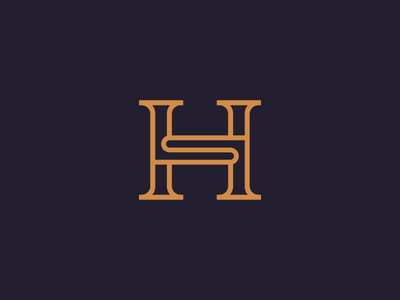 Luxury HS monogram line art identity branding monogram logos logo mark letter hs elegant design colorful luxury