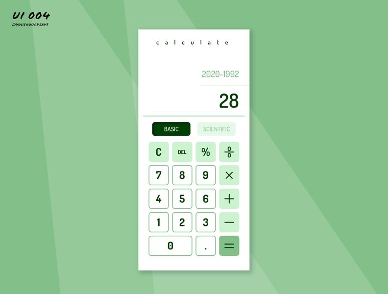 Daily UI: 004 | Calculator dailyui 004 app vector dailyui ui design typography dailyuichallenge