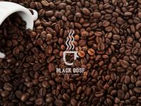 Black Dose - coffee shop logo design